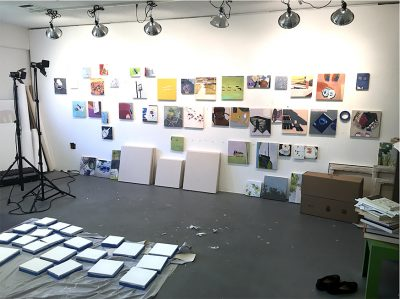 Claire Stankus's Studio, October 2017