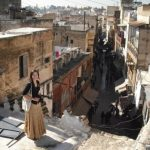 Michelle Craig,Atop the burj of the Fez Mellah
