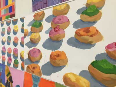 Painting of doughnuts