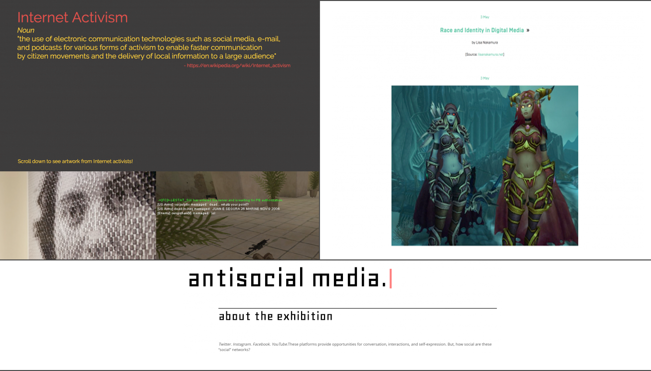 Internet Activism; Race and Identity in Digital Media; Antisocial Media
