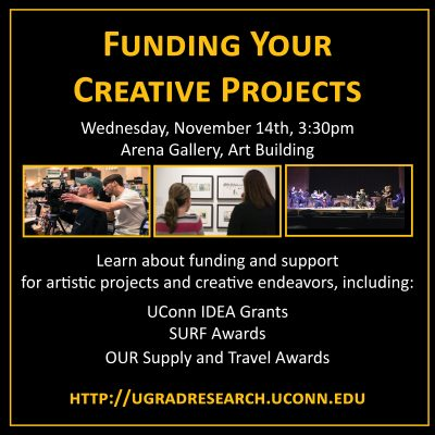 Funding Creative Projects Fall 2018